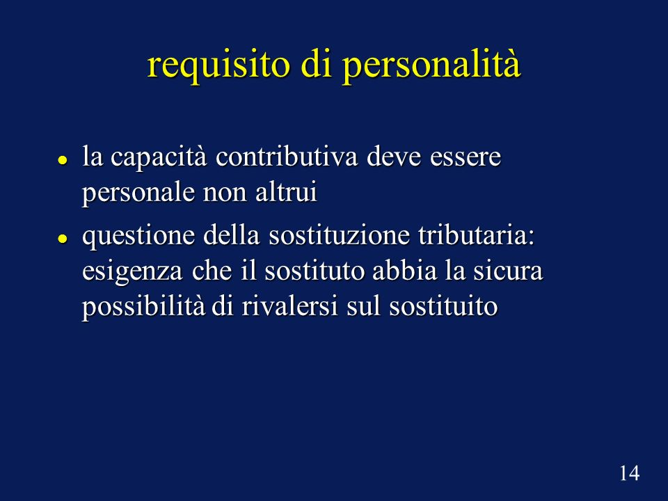 requisito di personalità
