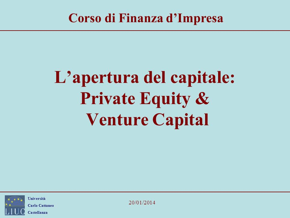 L'apertura del capitale: Private Equity & Venture Capital