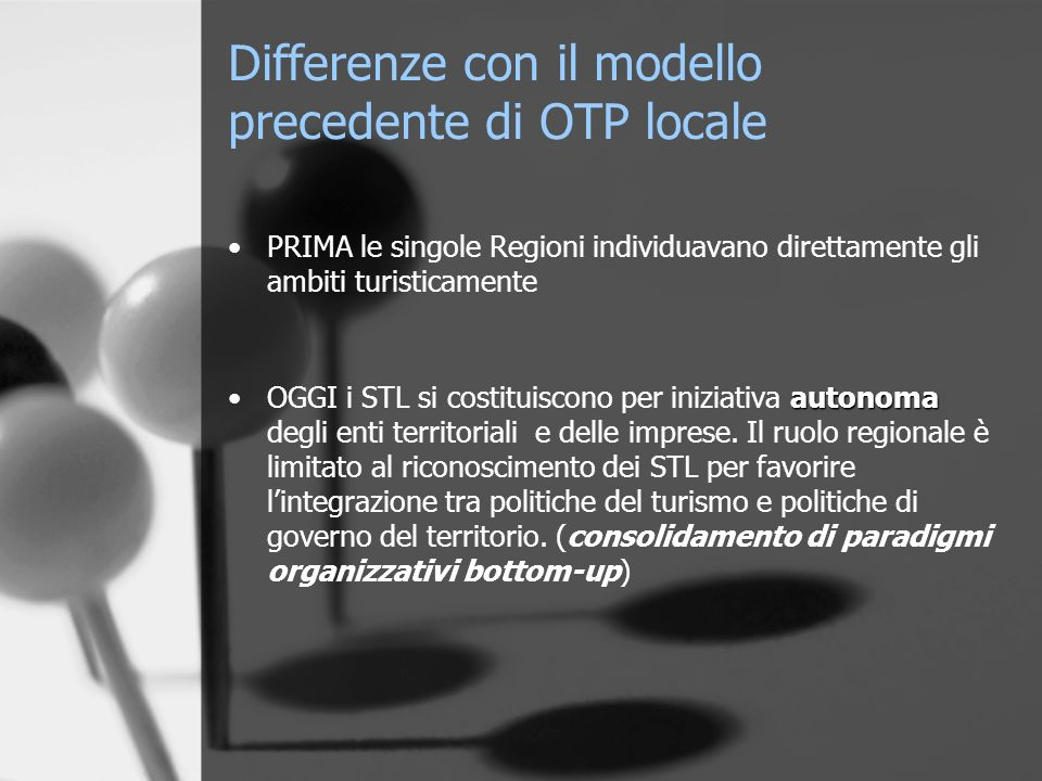 Differenze con il modello precedente di OTP locale