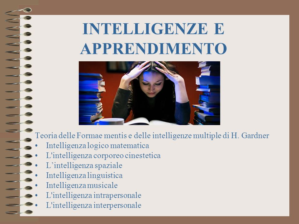 INTELLIGENZE E APPRENDIMENTO