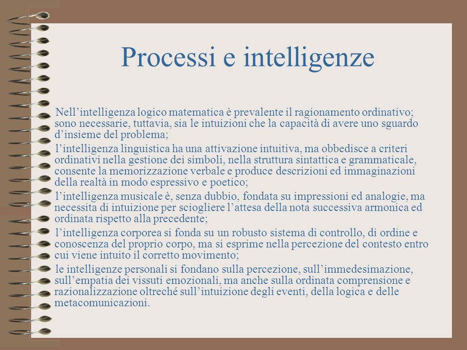 Processi e intelligenze