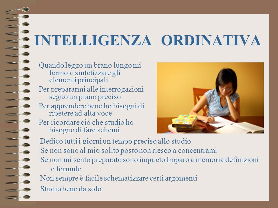 INTELLIGENZA ORDINATIVA