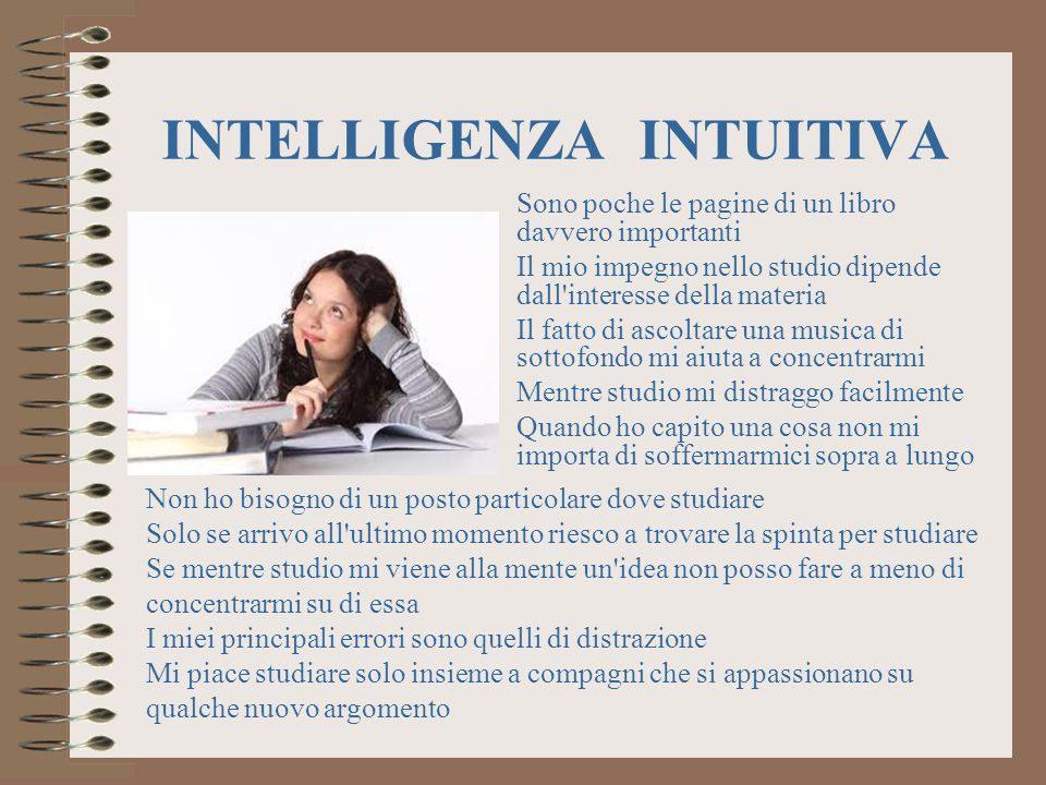INTELLIGENZA INTUITIVA