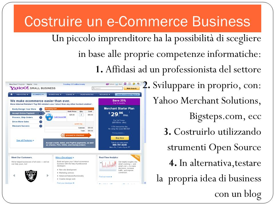 Costruire un e-Commerce Business