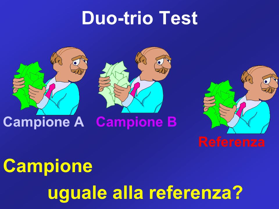 Duo-trio Test uguale alla referenza