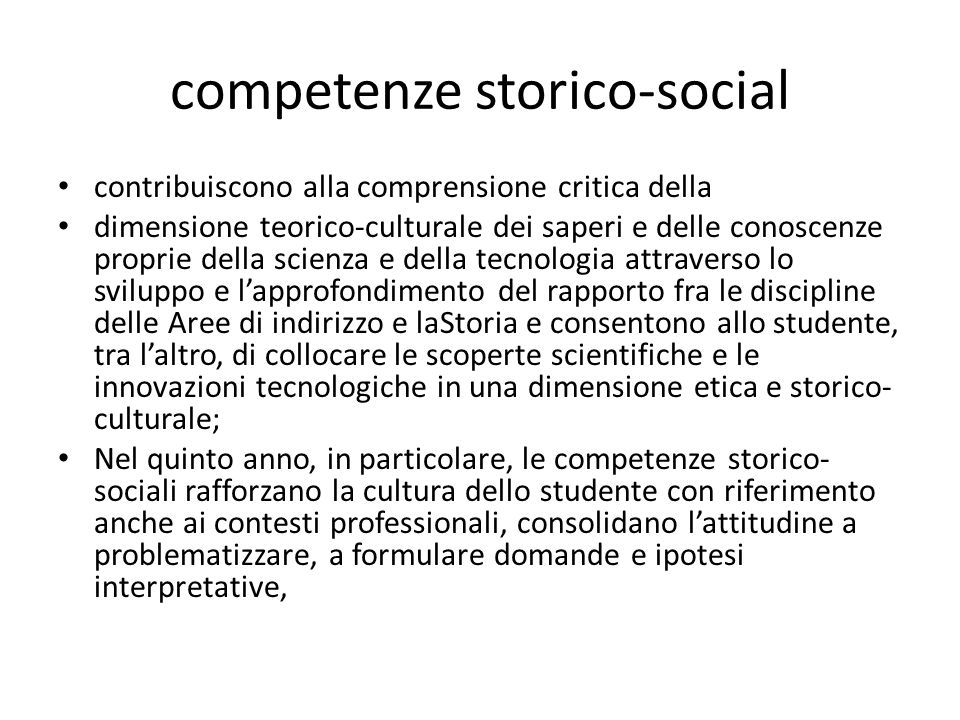 competenze storico-social