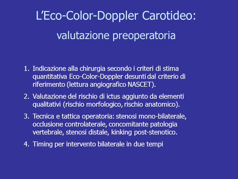 L'Eco-Color-Doppler Carotideo: