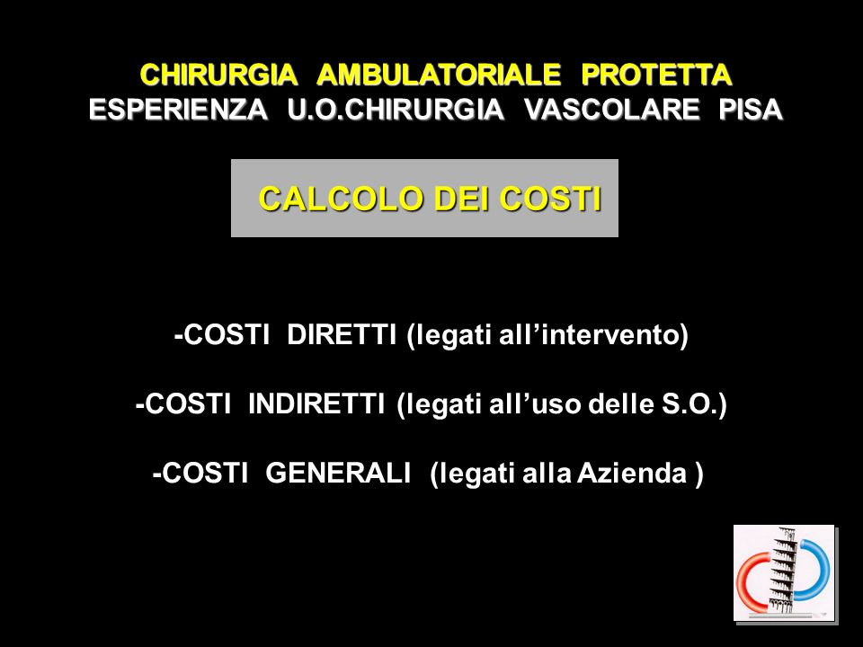 CALCOLO DEI COSTI CHIRURGIA AMBULATORIALE PROTETTA