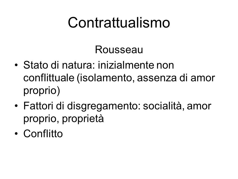 Contrattualismo Rousseau