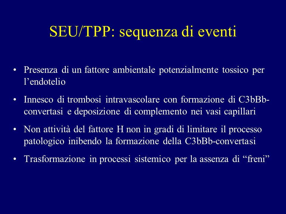 SEU/TPP: sequenza di eventi