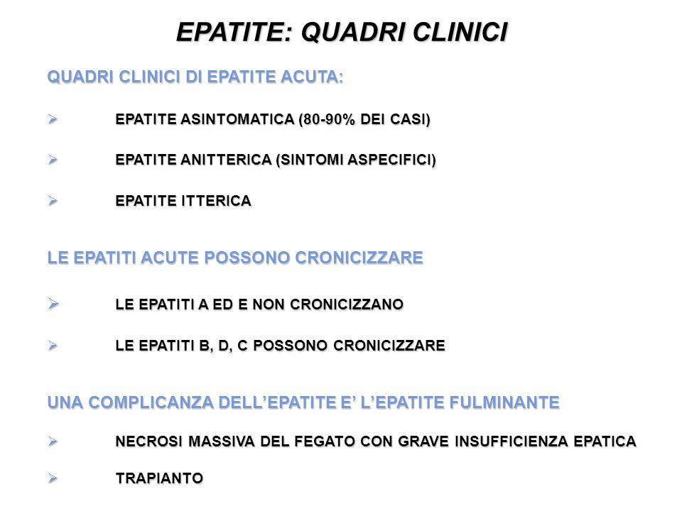 Virus responsabili di epatite primaria e secondaria ppt - Epatite c periodo finestra ...