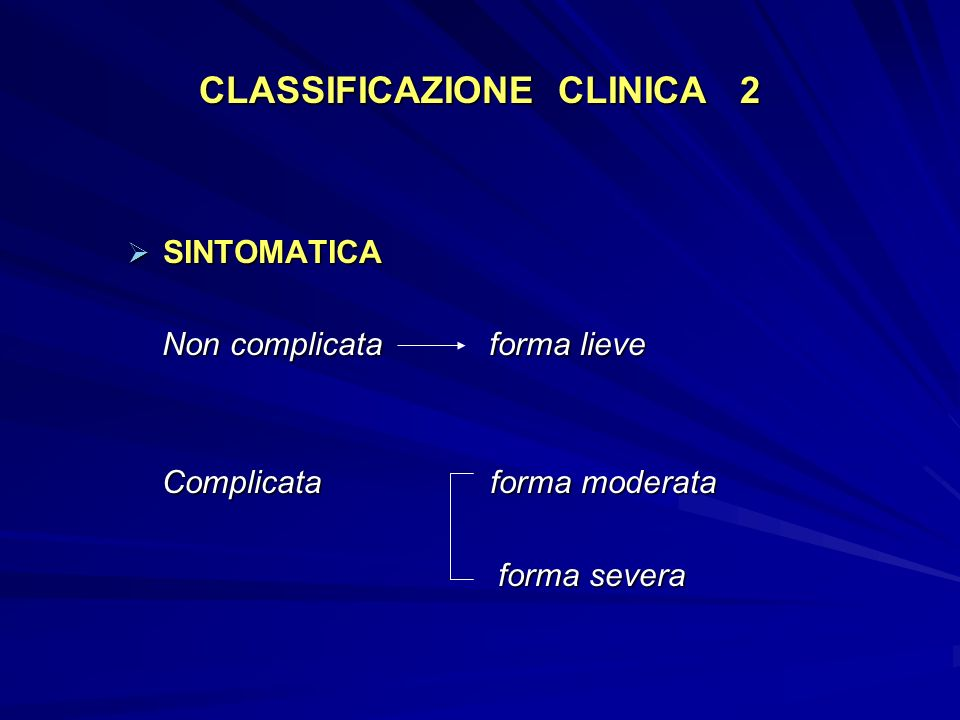 CLASSIFICAZIONE CLINICA 2