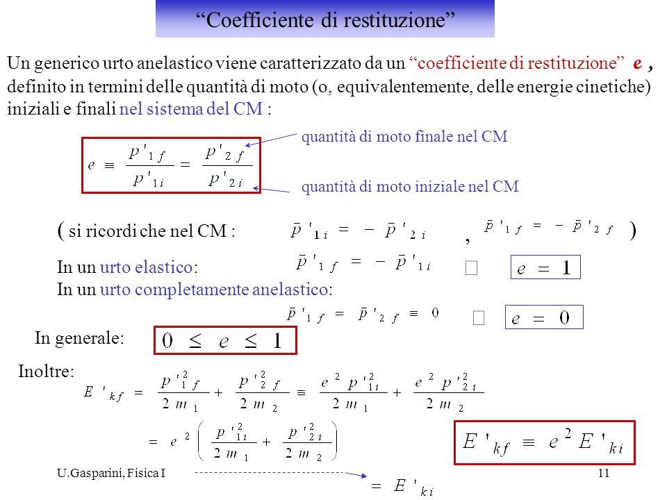 Coefficiente di restituzione