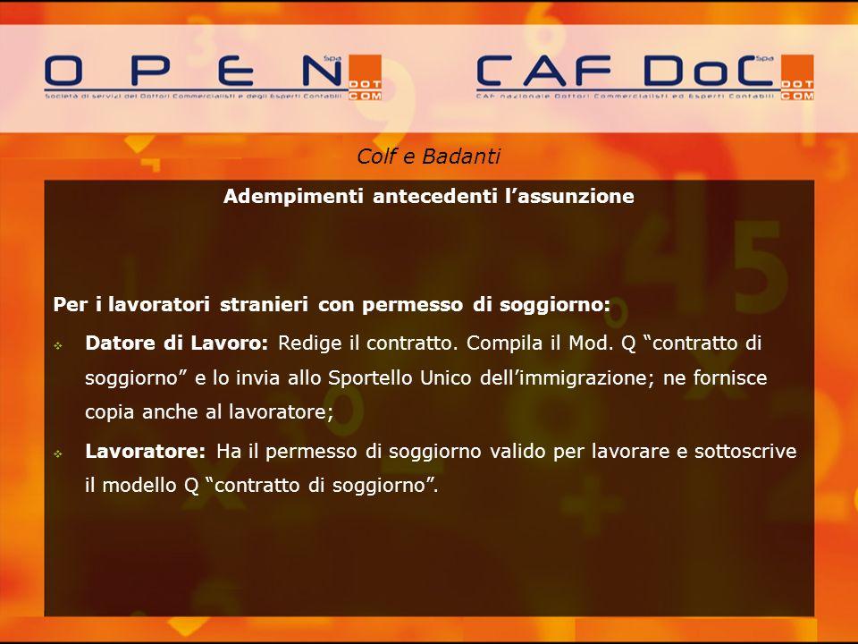 Emejing Contratto Di Soggiorno Per Lavoro Subordinato ...