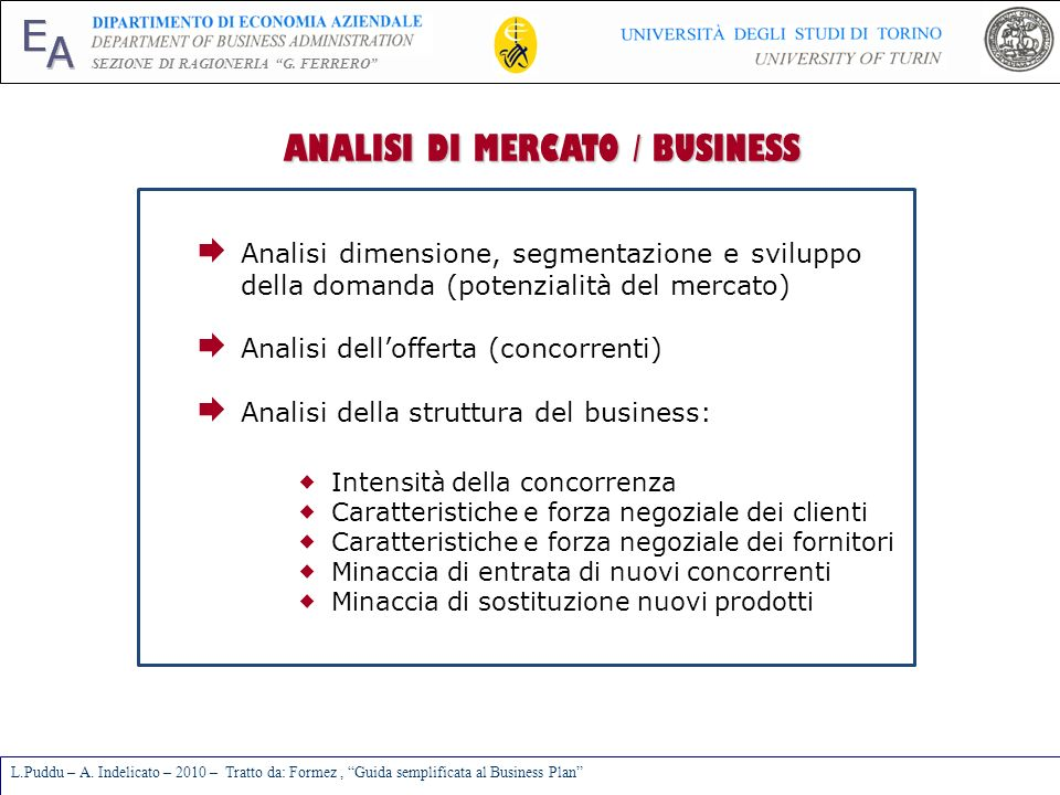 ANALISI DI MERCATO / BUSINESS