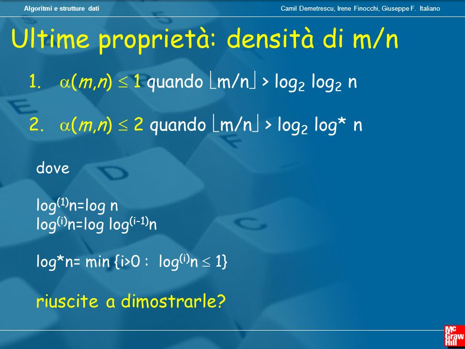 Ultime proprietà: densità di m/n