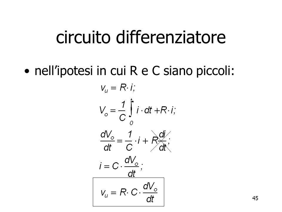 circuito differenziatore