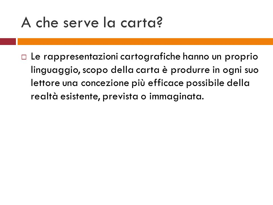 A che serve la carta