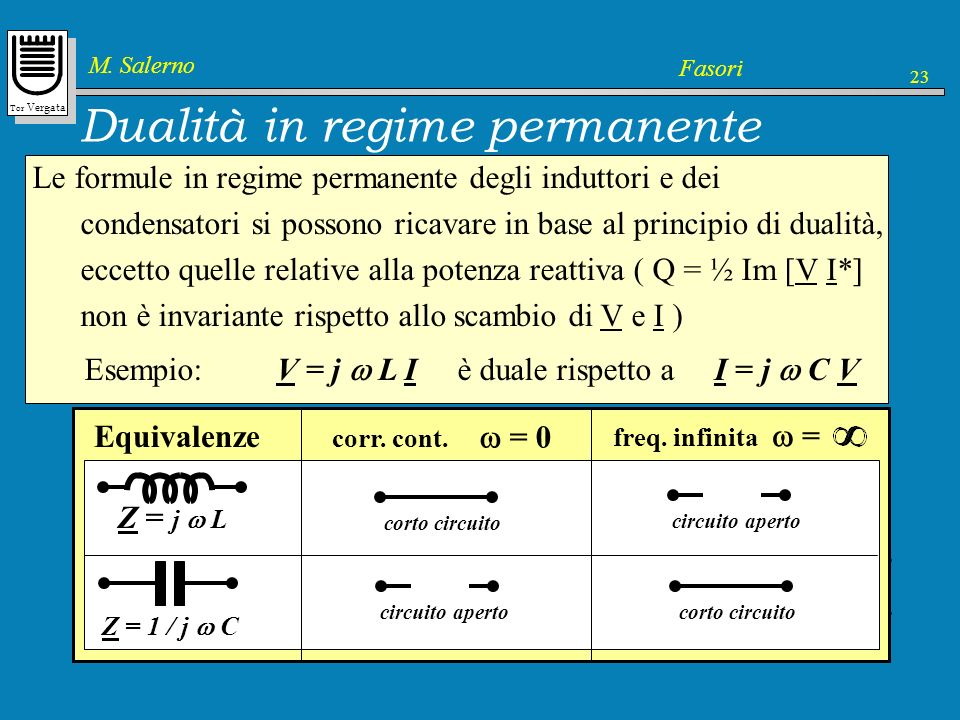 Dualità in regime permanente