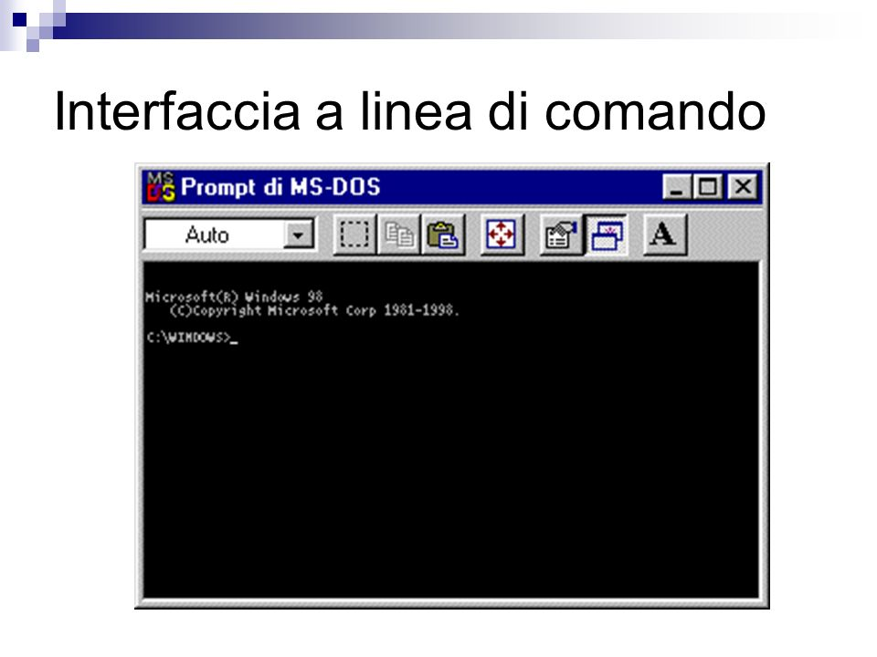 Interfaccia a linea di comando