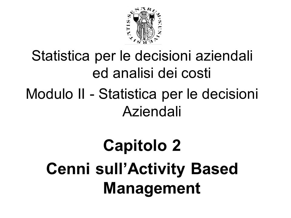 Cenni sull'Activity Based Management