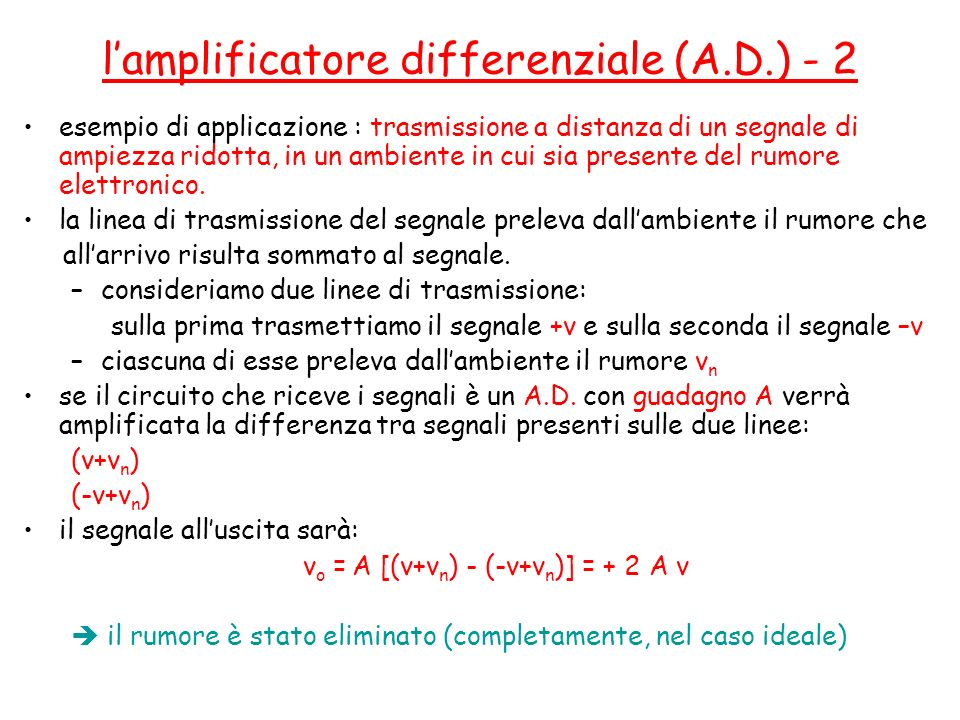 l'amplificatore differenziale (A.D.) - 2