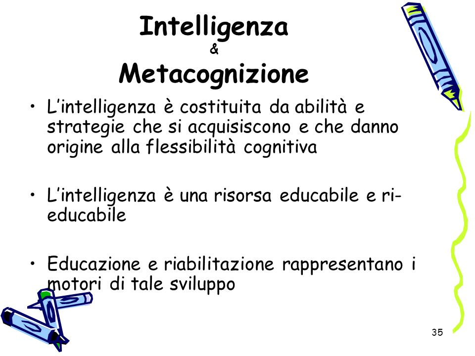 Intelligenza & Metacognizione