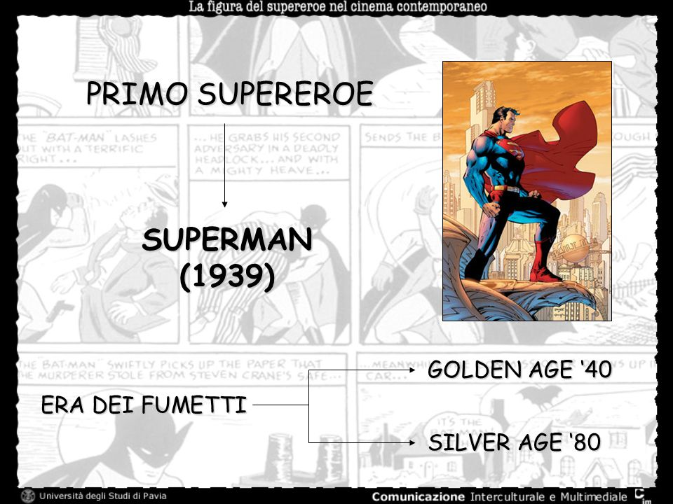 PRIMO SUPEREROE SUPERMAN (1939) GOLDEN AGE '40 ERA DEI FUMETTI