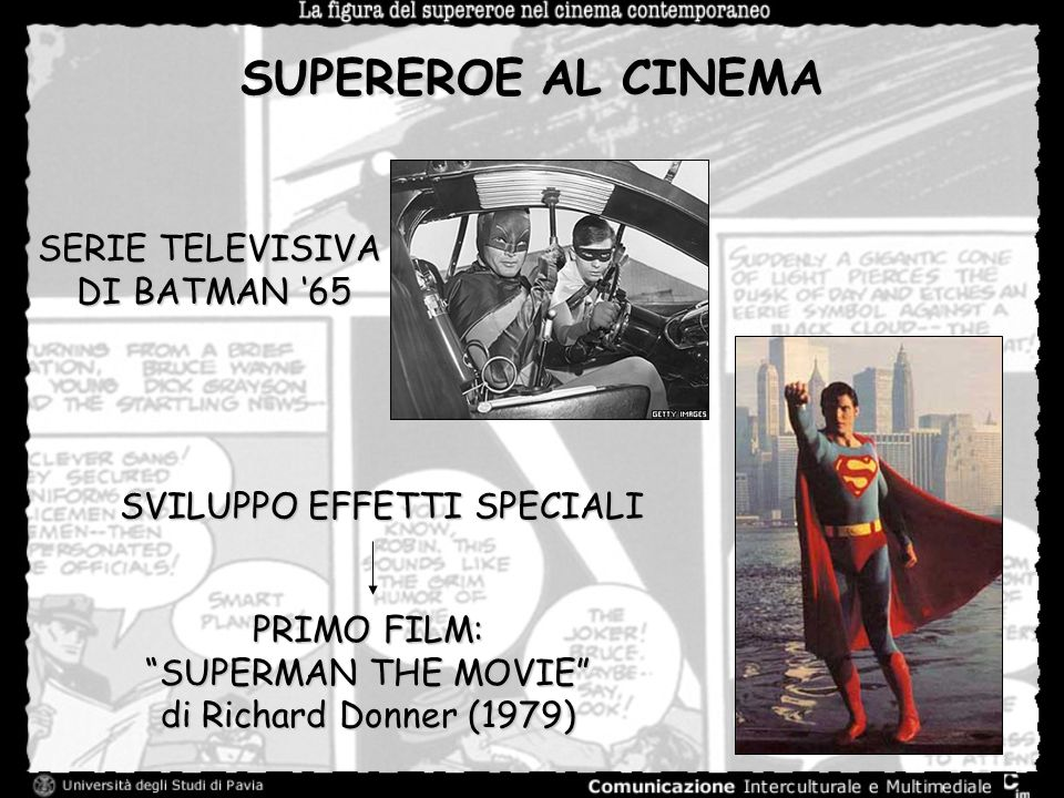 SUPEREROE AL CINEMA SERIE TELEVISIVA DI BATMAN '65