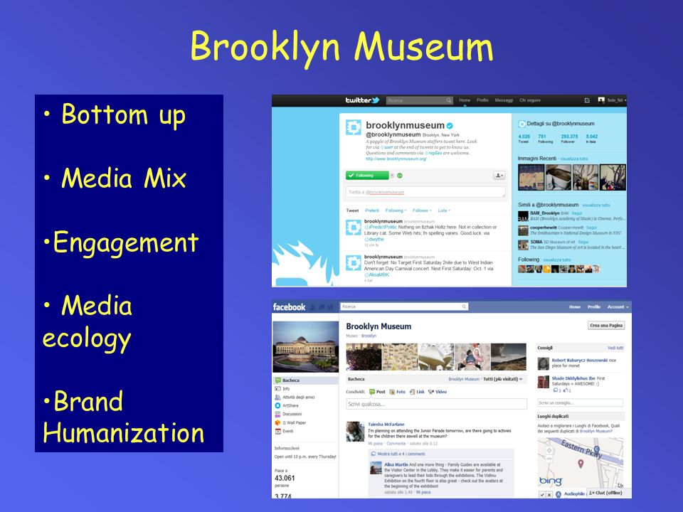 Brooklyn Museum Bottom up Media Mix Engagement Media ecology
