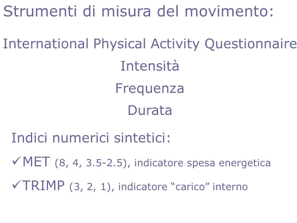 International Physical Activity Questionnaire