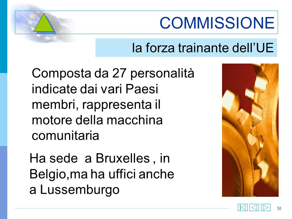 COMMISSIONE la forza trainante dell'UE