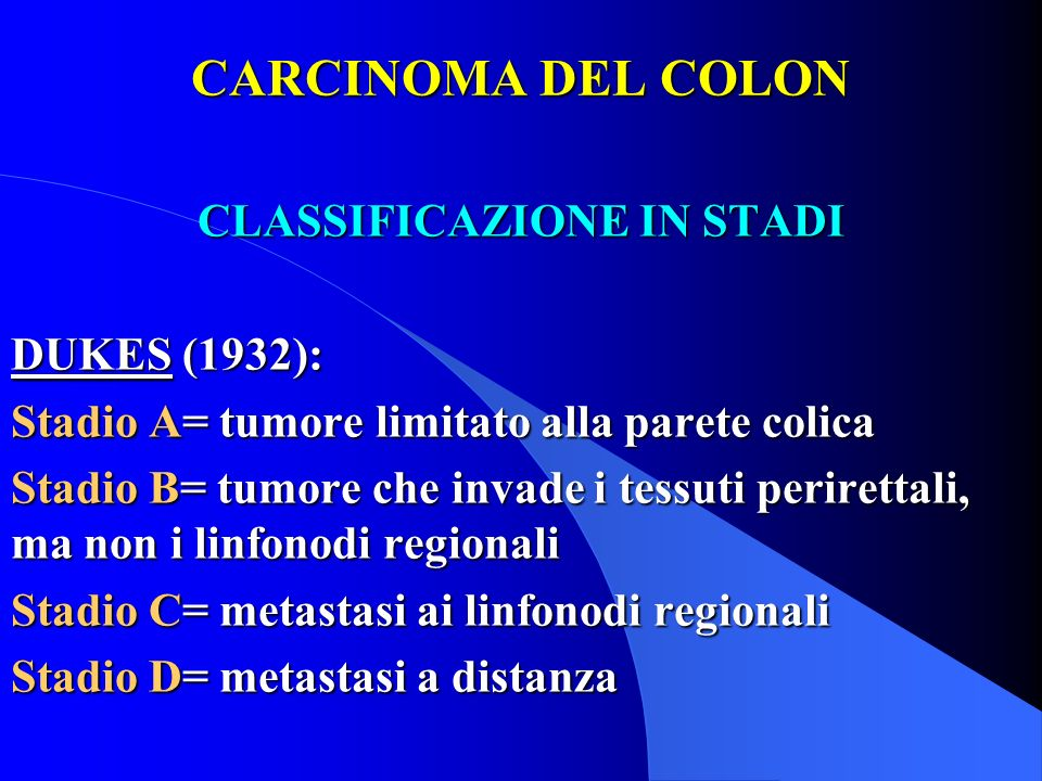 CLASSIFICAZIONE IN STADI
