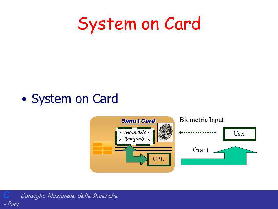 System on Card System on Card Biometric Input Grant User CPU