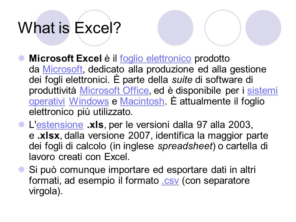 What is Excel