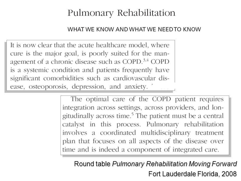 Round table Pulmonary Rehabilitation Moving Forward