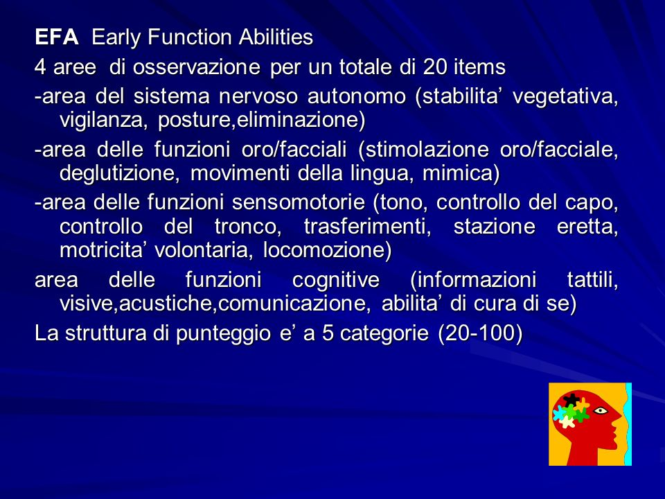 EFA Early Function Abilities
