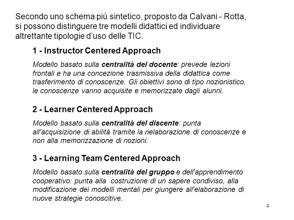 1 - Instructor Centered Approach