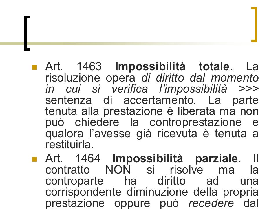 Art Impossibilità totale