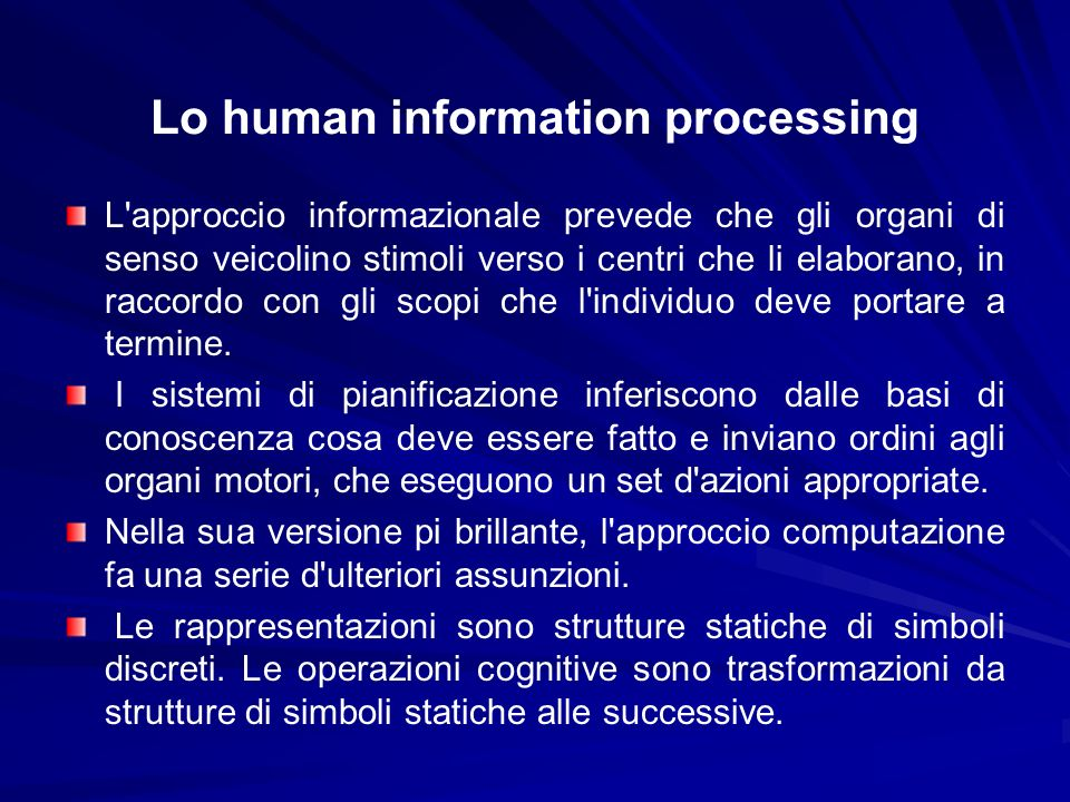 Lo human information processing