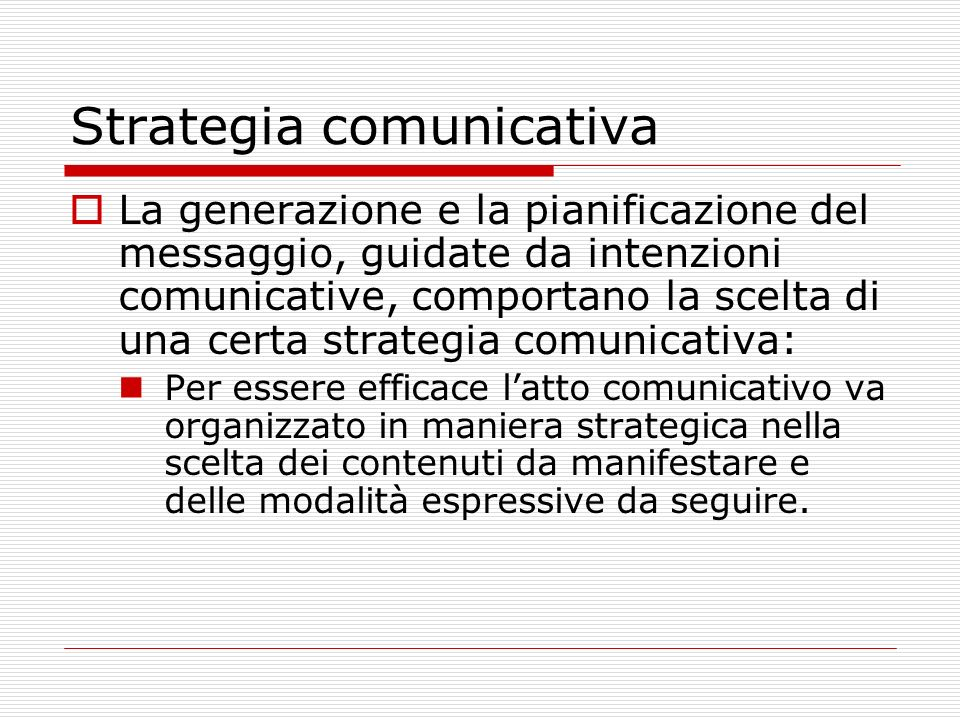 Strategia comunicativa