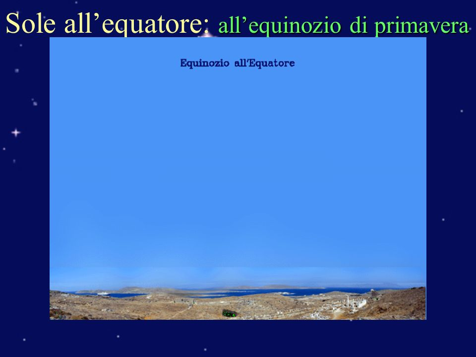 Sole all'equatore: all'equinozio di primavera