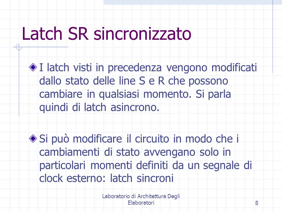 Latch SR sincronizzato