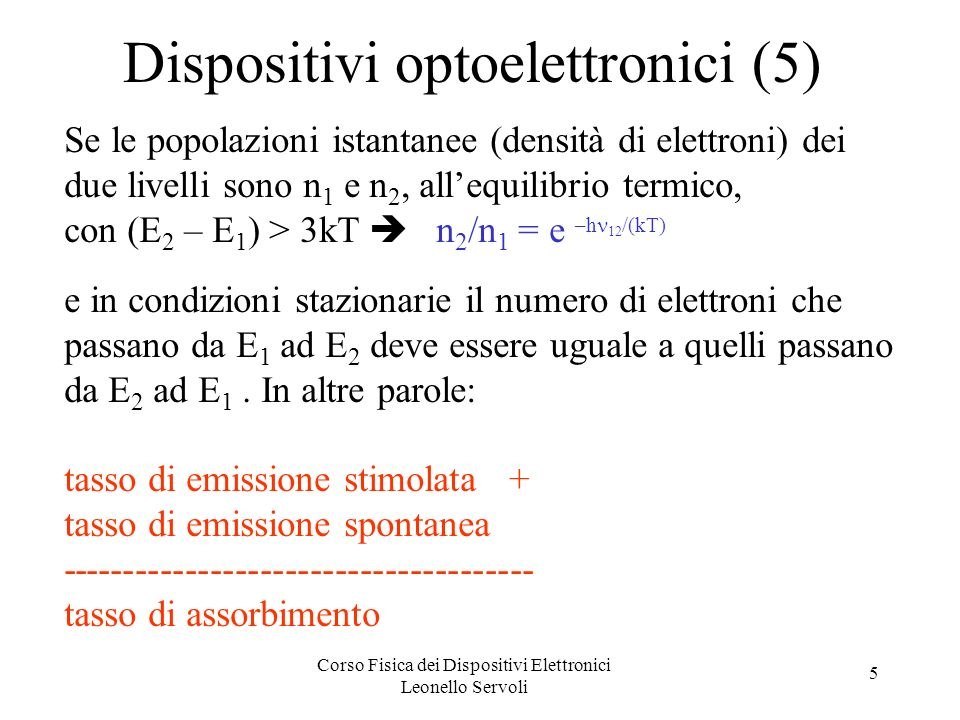 Dispositivi optoelettronici (5)