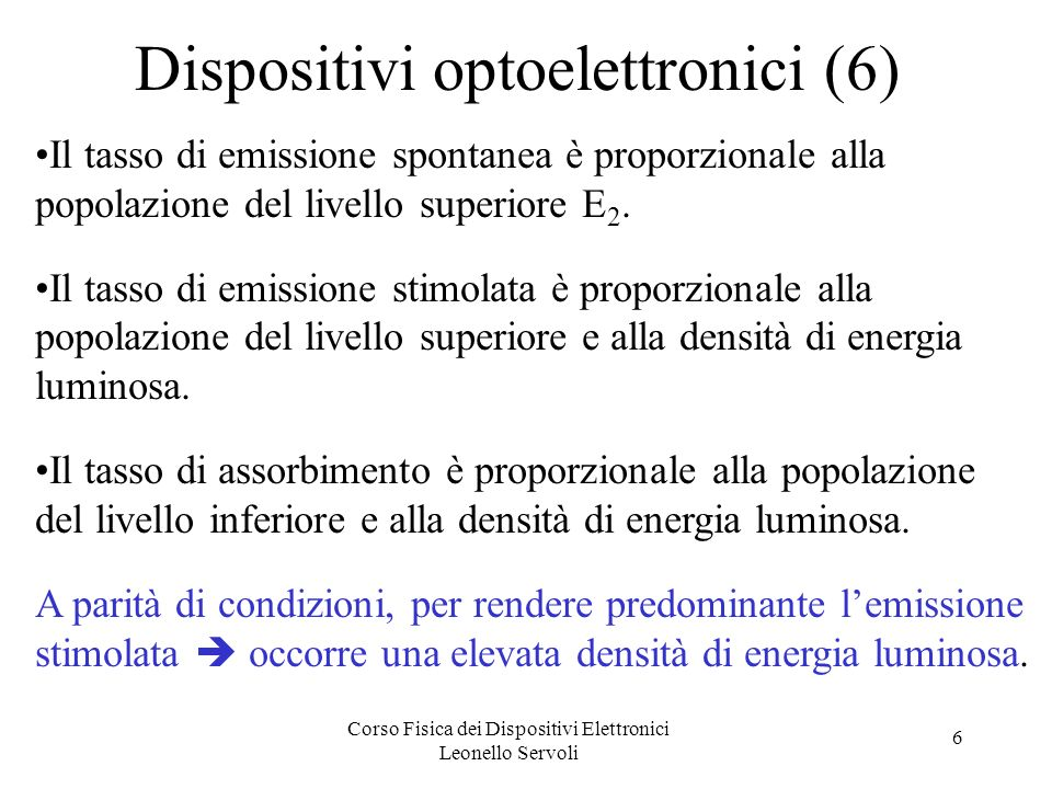 Dispositivi optoelettronici (6)