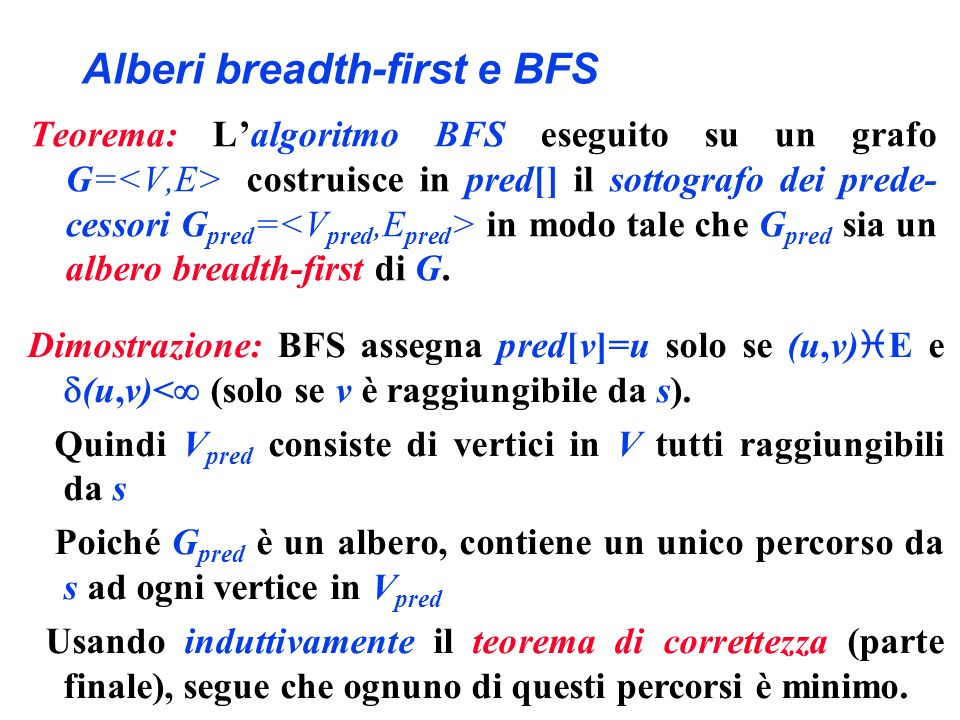 Alberi breadth-first e BFS