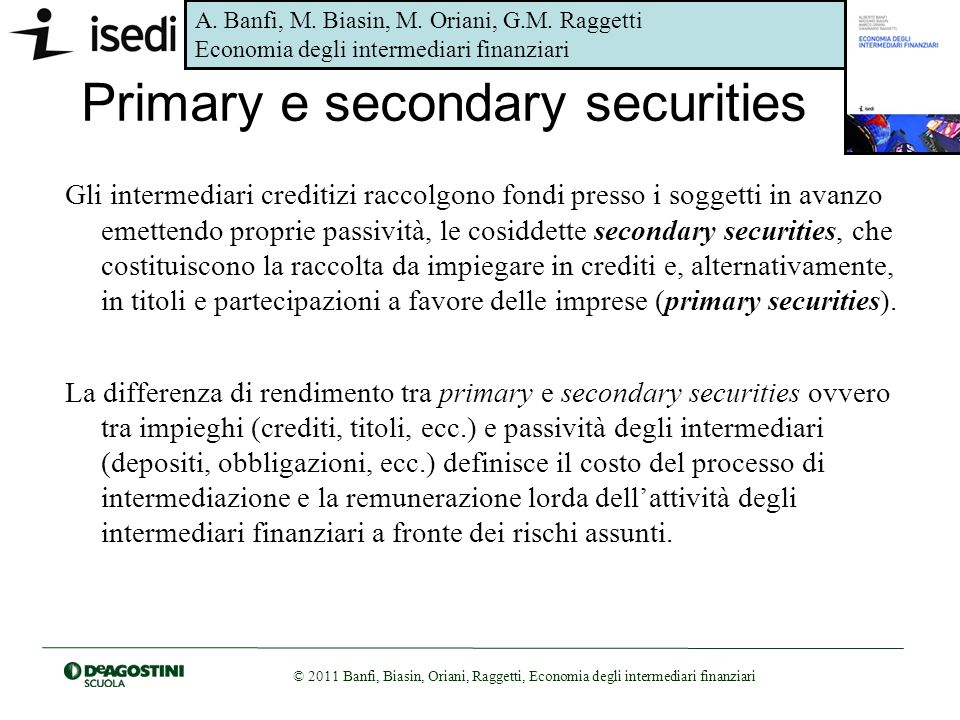 Primary e secondary securities