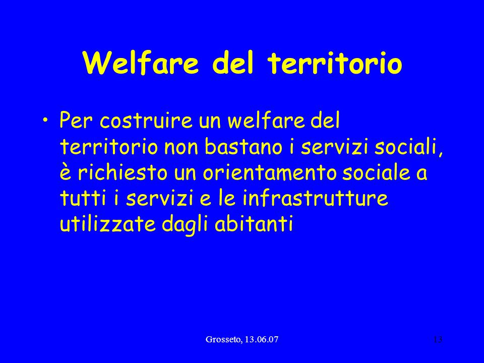 Welfare del territorio