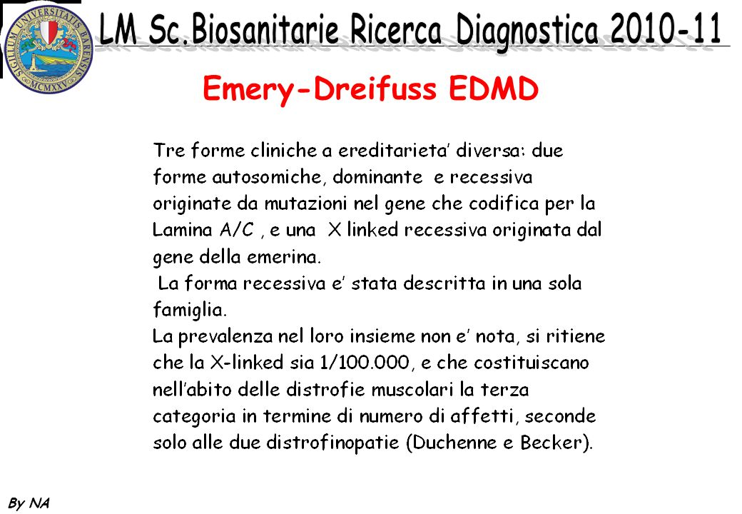 Emery-Dreifuss EDMD By NA