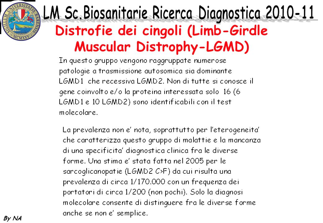 Distrofie dei cingoli (Limb-Girdle Muscular Distrophy-LGMD)